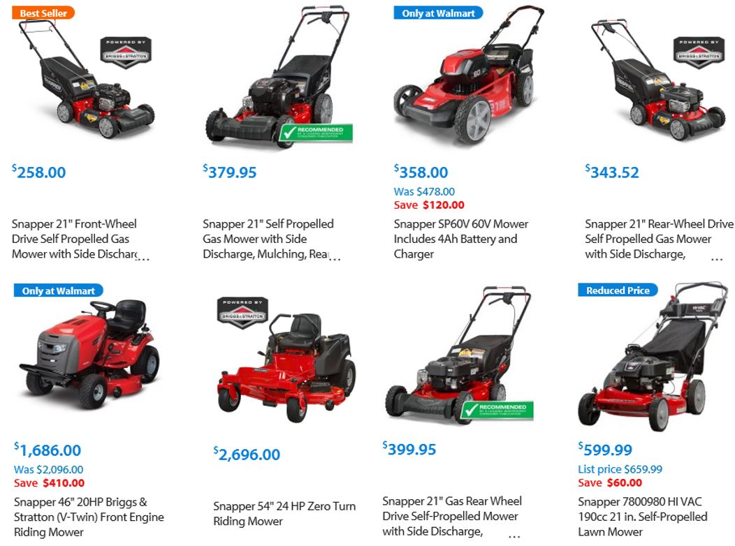 Snapper Lawn Mower Review, Range overview