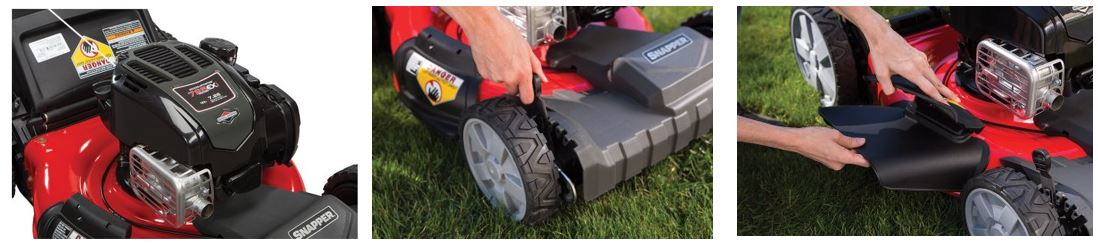 Snapper Lawn Mower review, 21 inch 725 self propelled side discharge, additional images