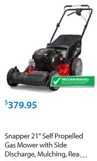Snapper Lawn Mower review, 21 inch 725 self propelled side discharge