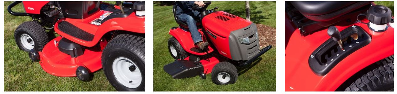 Snapper Ride on lawn mower review, 46 inch, images