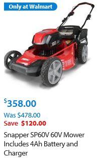Snapper lawnmower review, 60v cordless mower