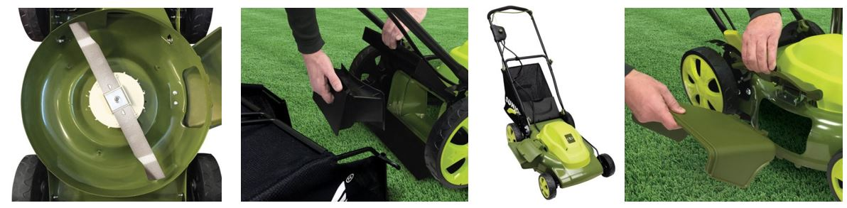 Sun Joe Lawn mower review, Electric model 12 amp 20 inch, additional images