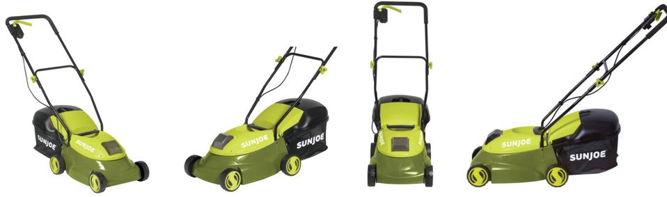 Sun Joe Lawn mower review, Electric model 28V 14 inch, additional images