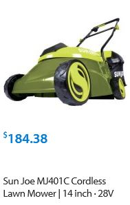 Sun Joe Lawn mower review, Electric model 28V 14 inch