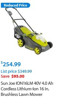 Sun Joe Lawn mower review, Electric model 40V 16 inch brushless