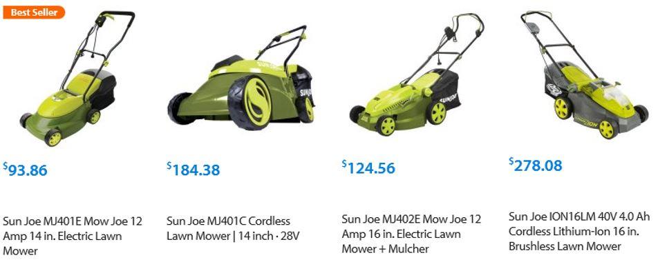 Sun Joe Lawn mower review, model 16 inch Reel, alternatives