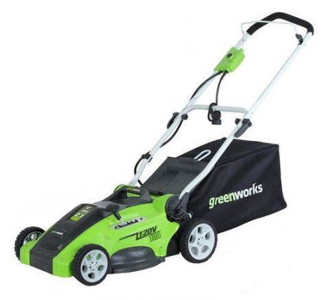 Greenworks Lawn Mower review, 120v 16 inch, featured image