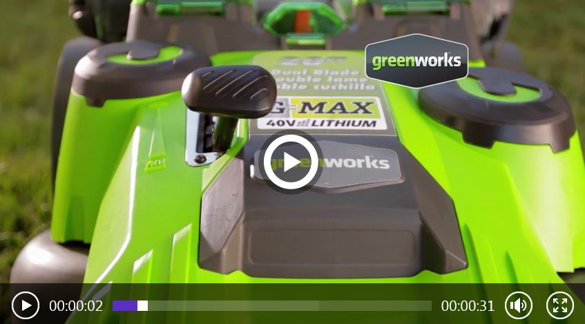 Greenworks Lawn Mower review, 2501302 40V, video