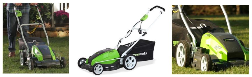 Greenworks Lawn Mower review, 25112 13 Amp 21 inch, additional images