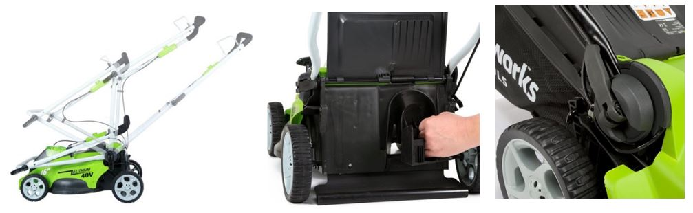 Greenworks lawn mower review, 40V 16 inch, additional images