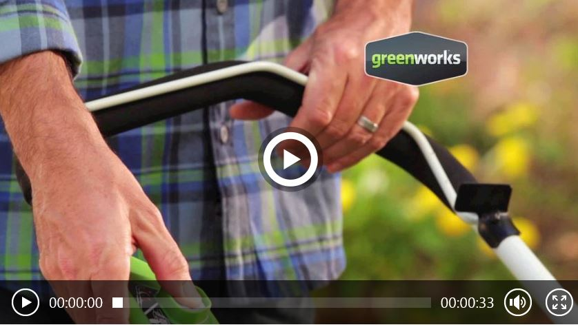 Greenworks lawn mower review, 40V 16 inch, video
