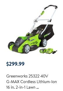 Greenworks lawn mower review, 40V 16 inch