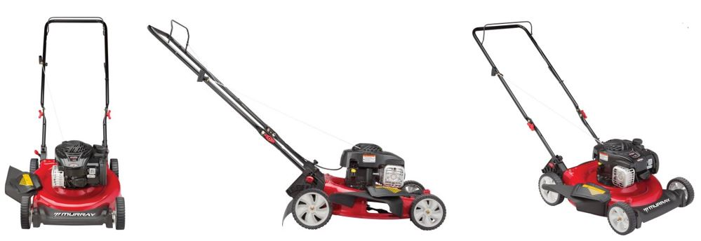 Murray 21 inch 500e, side discharge, lawn mower review, additional images