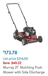Murray 21 inch, 500e side discharge, lawn mower review