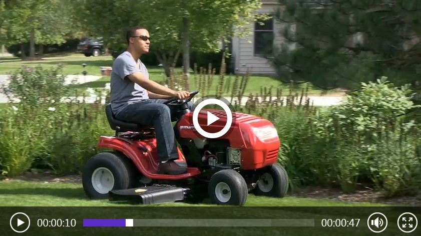 Murray 42 inch Ride on lawn mower review, video
