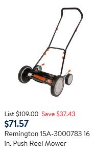 Remington Lawn Mower Review - Reel mower, second option