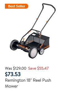 Remington Lawn Mower Review - Reel mower