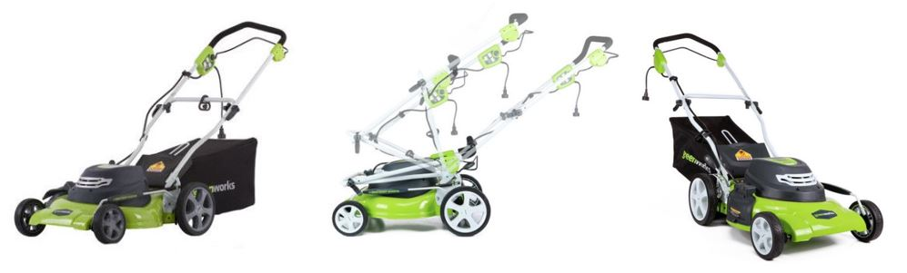 greenworks lawn mower review, 12 amp 20 inch, additional images