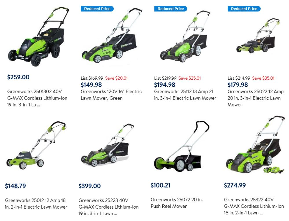 Greenworks Lawn Mower Reviews, Compilation