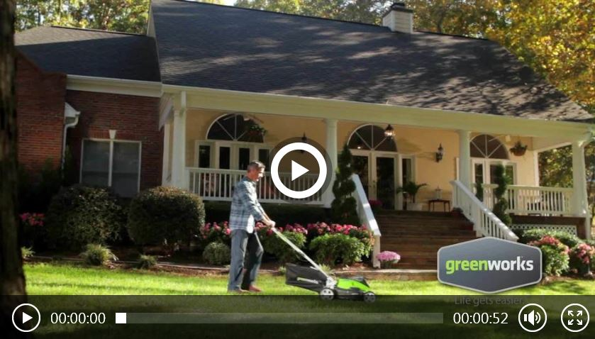 Greenworks Lawn Mower reviews, 25223, 40v 19 inch, Video