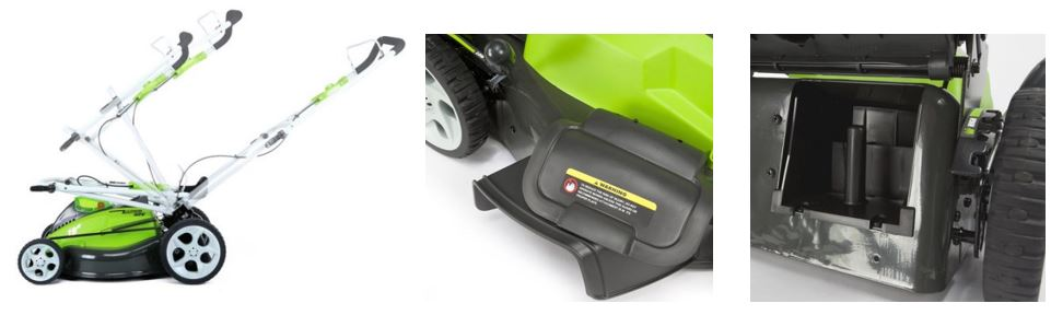 Greenworks Lawn Mower reviews, 25223, 40v 19 inch, additional images