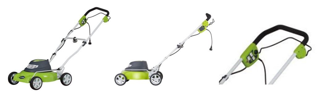 Greenworks Lawn mower review, 12 amp 18 inch, additional images