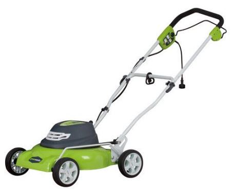 Greenworks Lawn mower review, 12 amp 18 inch, featured image