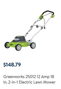 Greenworks Lawn Mower Review 12 Amp 18 Inch