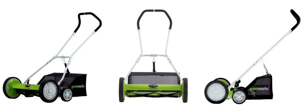Greenworks Lawn mower review, Reel 20 inch, additional images
