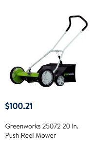 Greenworks Lawn mower review, Reel 20 inch