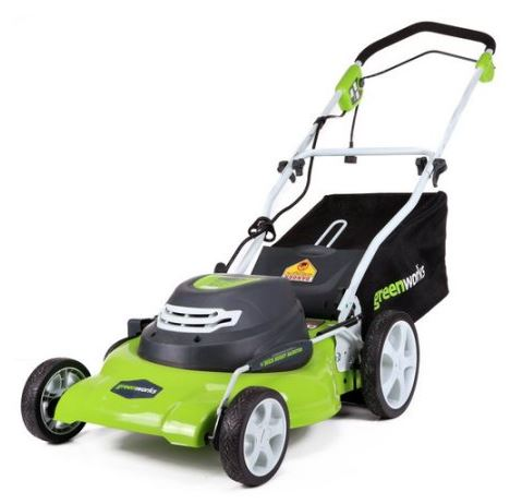 Greenworks lawn mower review, 12 amp 20 inch, featured image