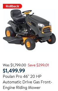 Poulan Pro Tractor Review, 46 inch 20 HP