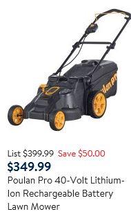 Poulan Pro lawn mower review, 40v battery