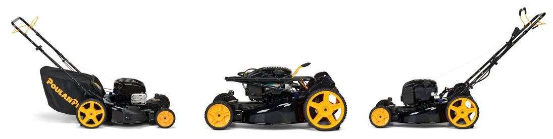 Poulan pro lawn mower review, 22 inch 163cc, additional images