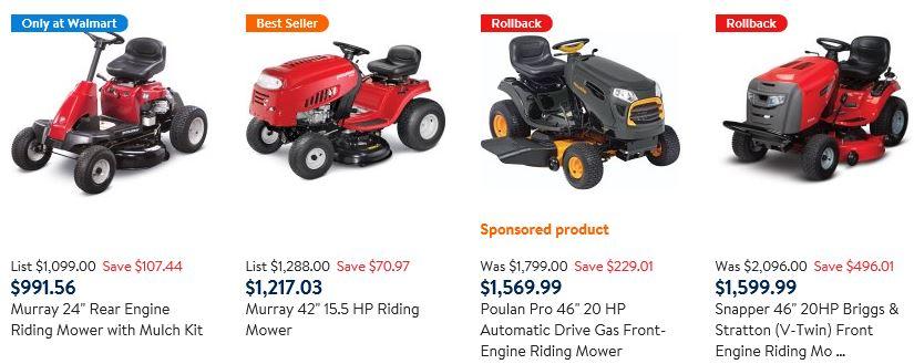 Tractor Mowers, Walmart
